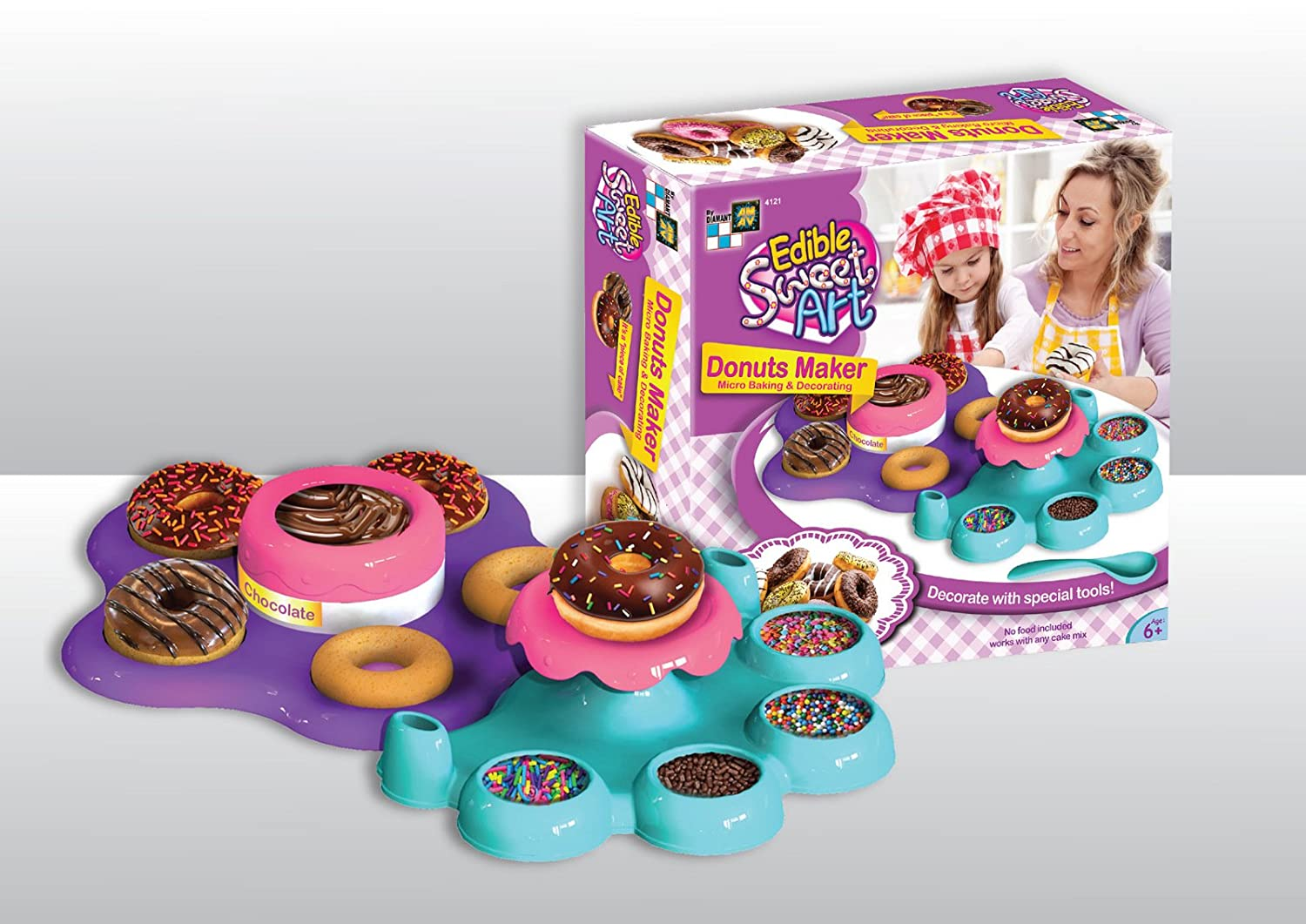 Donut Maker Activity Set Using Microwave Baking with All Utilities Included AMAV Toys Make Your Own Delicious Donuts Edible Sweet Art for Kids