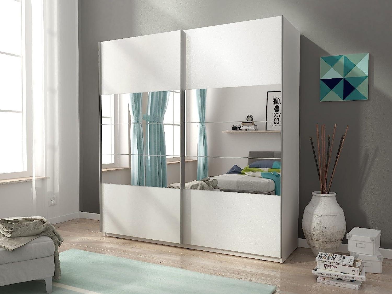 Armario Mia con dos puertas correderas, color mate y espejos (150 ...