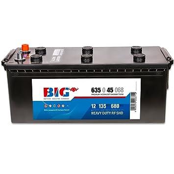 BIG 12 V/135 ouhh - 680 A/EN 63545 Nutzfahrzeugbattterie: Amazon.es: Electrónica
