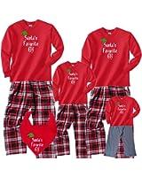 Santa's Favorite Elf Matching Family Christmas Pant Sets