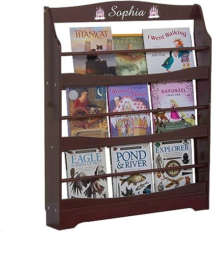 Guidecraft Expressions Espresso Dark Cherry Bookrack Storage Bookshelf Kids School Furniture