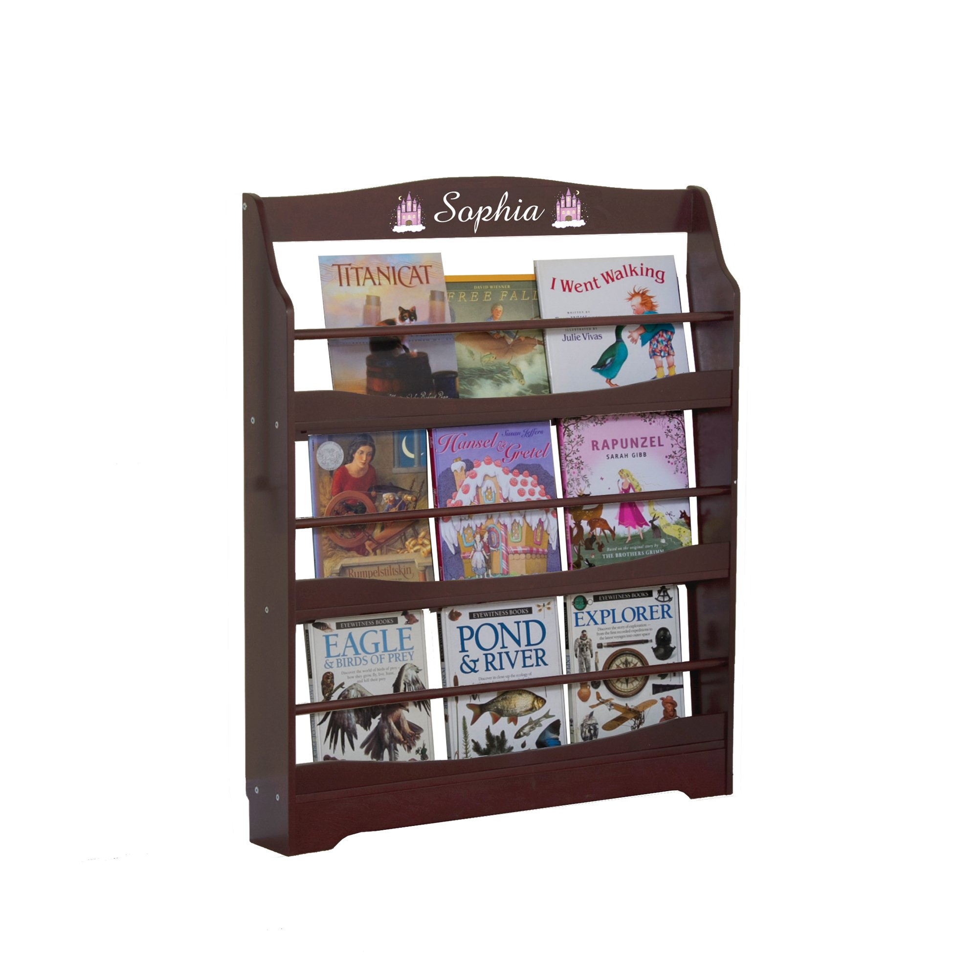 Guidecraft Expressions Espresso - Dark Cherry Bookrack - Storage Bookshelf Kids School Furniture