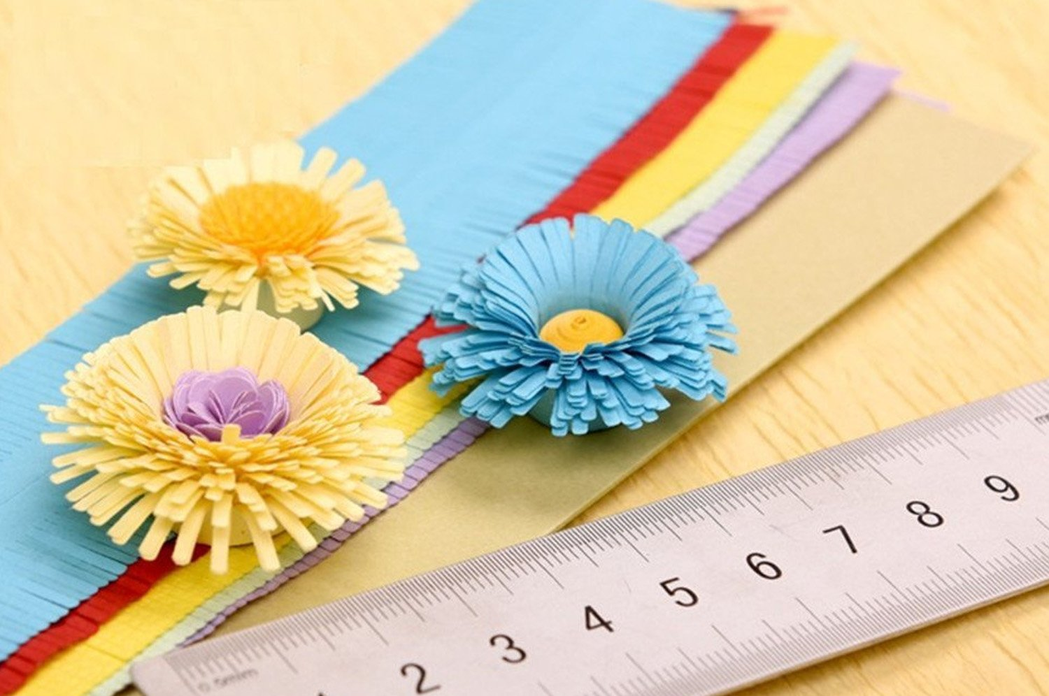 MS DIY 8 Style Flower Design Paper Quilling Strip Creations Make Paper Flowers Kit