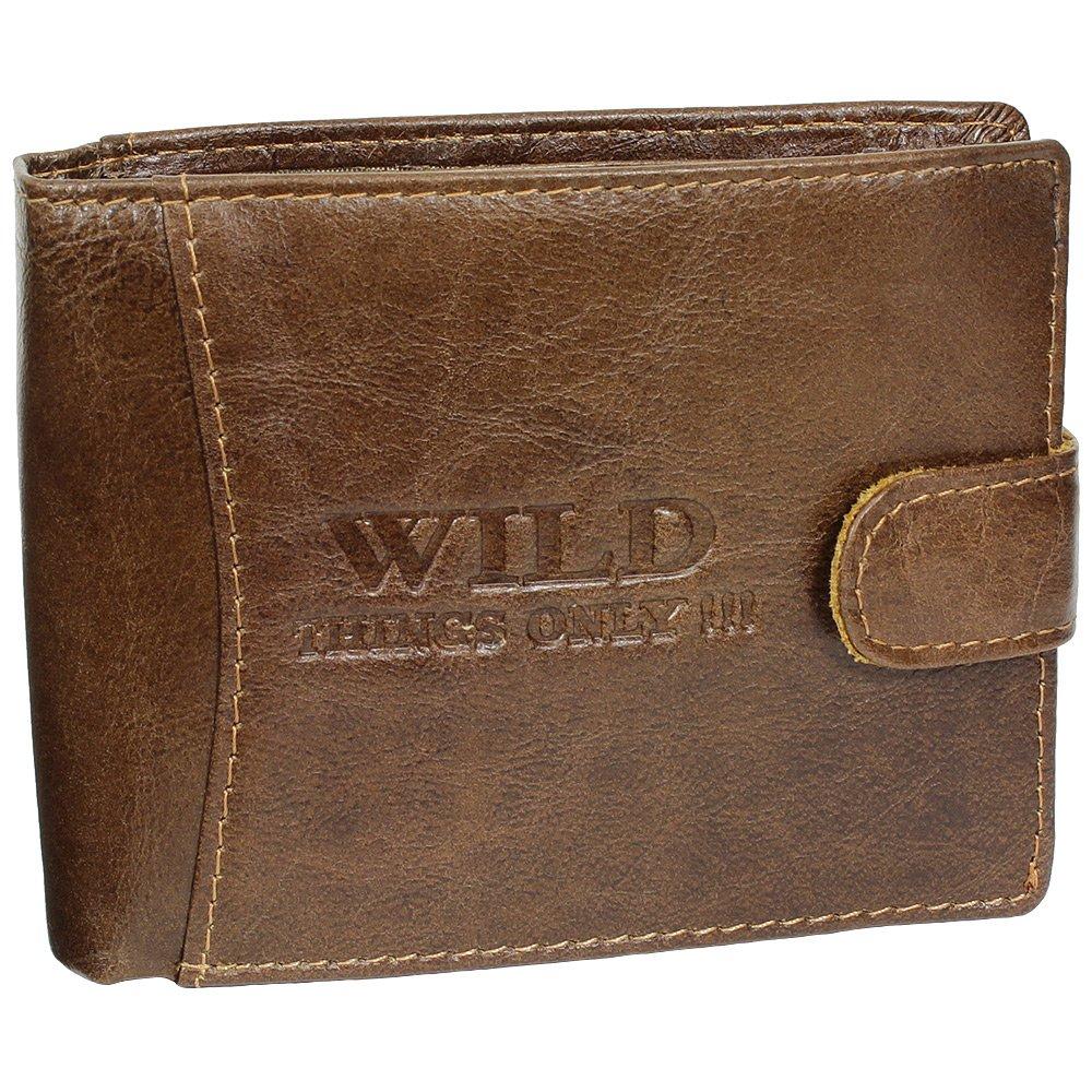 Porte monnaie en cuir avec bouton pression pour homme for Porte monnaie homme