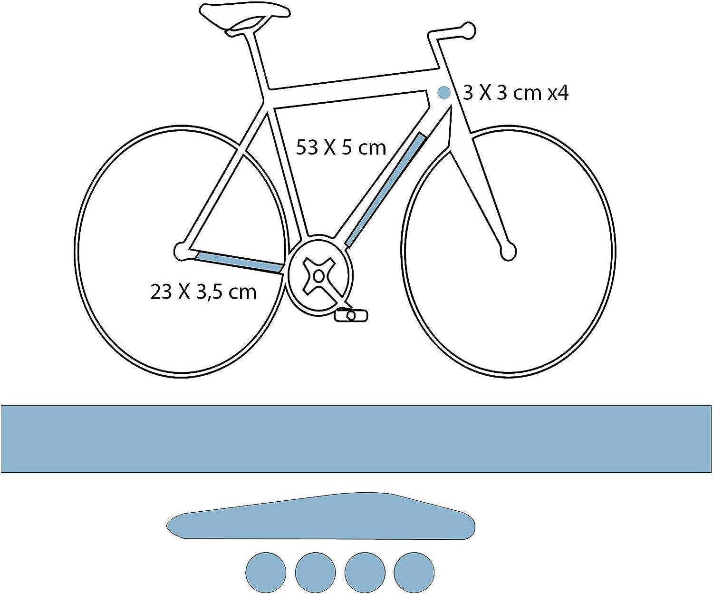 DESIGN PROTECT Película de protección para Bicicleta de Carretera Mate Formato S: Amazon.es: Deportes y aire libre