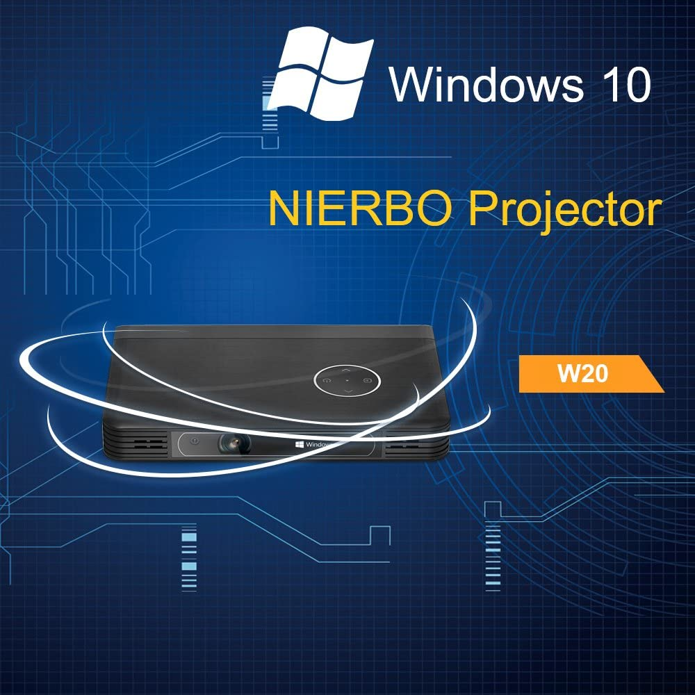 NIERBO Proyector portátil Mini LED 10000mAh Batería recargable ...