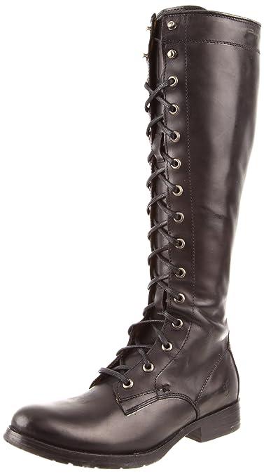 FRYE Women's Melissa Tall Lace Boot, Black, ...