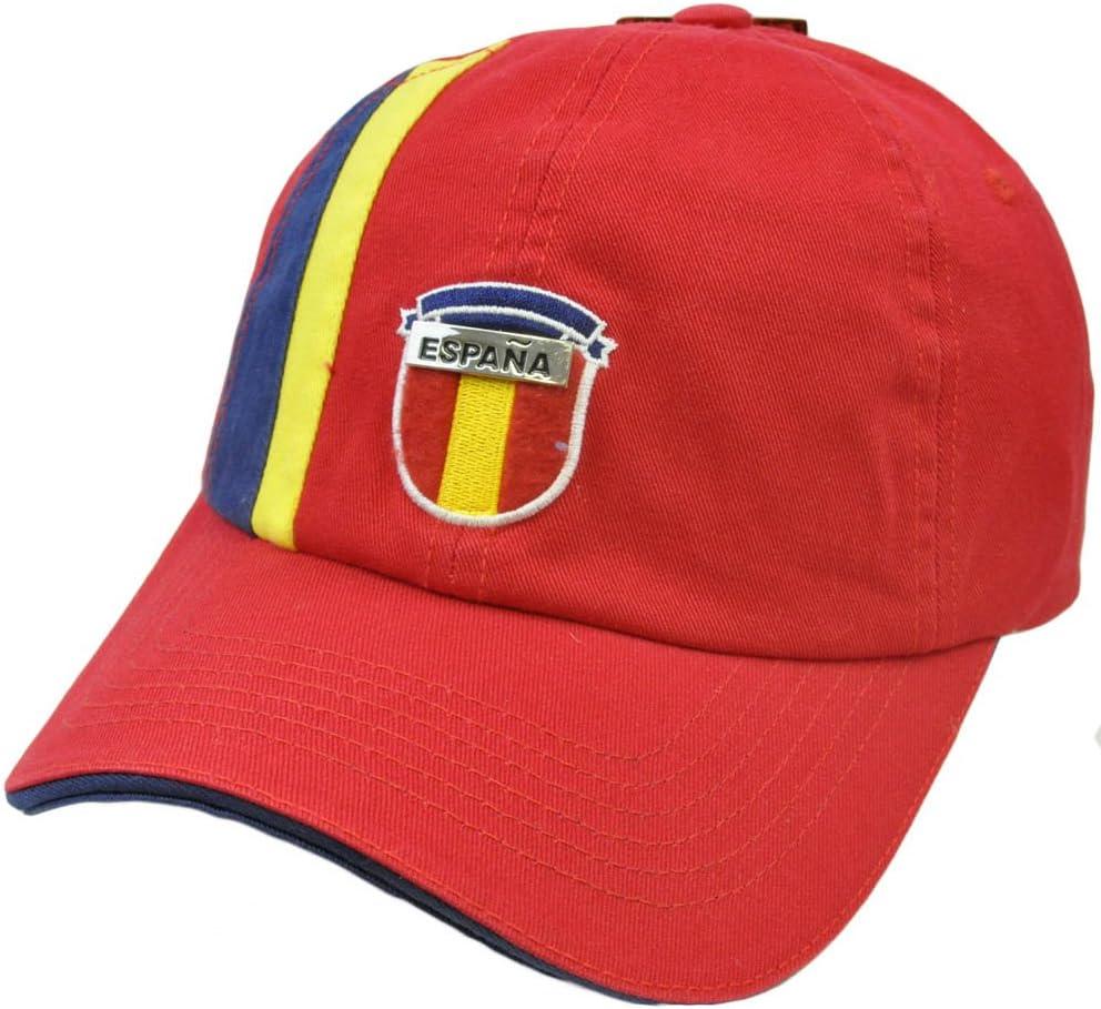 Rhinox España Espaã ± una Bandera Escudo Sombrero Gorra fútbol Futbol FIFA Eurocopa 2012 Rojo: Amazon.es: Deportes y aire libre
