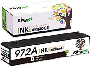 Kingjet Compatible Replacement for 972A / 972X Black Ink Cartridge Work with PageWide 377dw; PageWide Pro 477dn, 477dw, 577dw, 577z, 552dw, 452dn, 452dw Printers, 1 Black