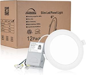LEDIMWO 12 Pack No-Flicker Dimmable 6