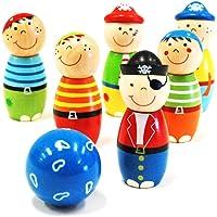 Kaper Kidz - Wooden Pirate Bowling Skittles Skittles Set
