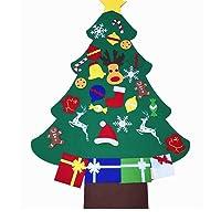 Vlovelife 3ft Felt Christmas Tree + 26pcs Detachable Hanging Ornaments Xmas Party Home Decor Kids DIY Xmas Gift