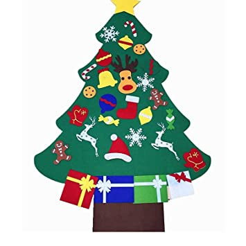 Children Christmas Tree Decorations.Vlovelife 3ft Kids Diy Felt Christmas Tree Decorations Xmas 26pcs Detachable Hanging Ornaments Home Decor Happy New Year 2018 Children Christmas Gift