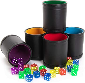Game Night Dice Cup Feelin Lucky Dice Cup Hostess Gift --22831-GAM6-040 Dice Cup Engraved Dice Cup Stocking Stuffer Bunco Club