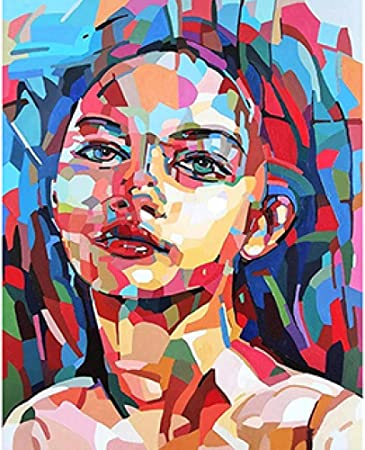 Wanghan Painting By Number Diy Digital Painting Color Block Character Portrait Body Art Romance Love Number Coloring Oil Painting Living Room Amazon Co Uk Kitchen Home