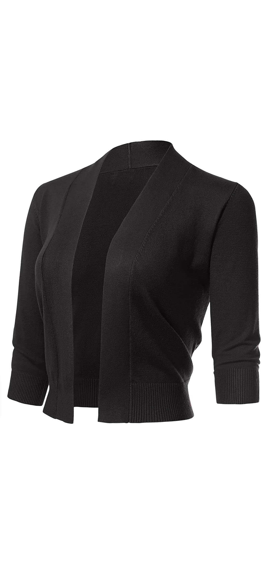 Women's Classic / Sleeve Open Front Cropped Cardigans S-xl