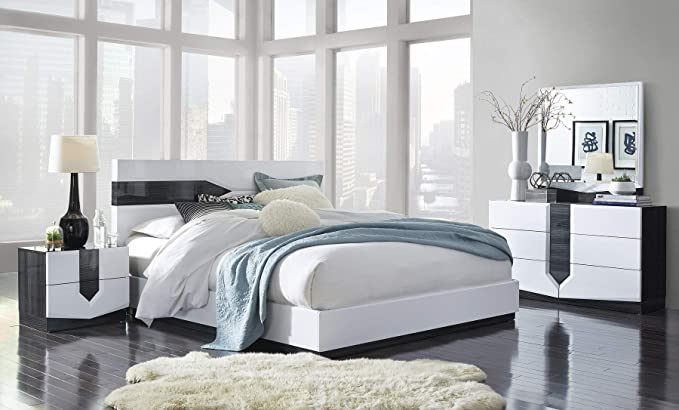 Amazon.com: Global cama Zebra Color Gris y Blanco Alto ...