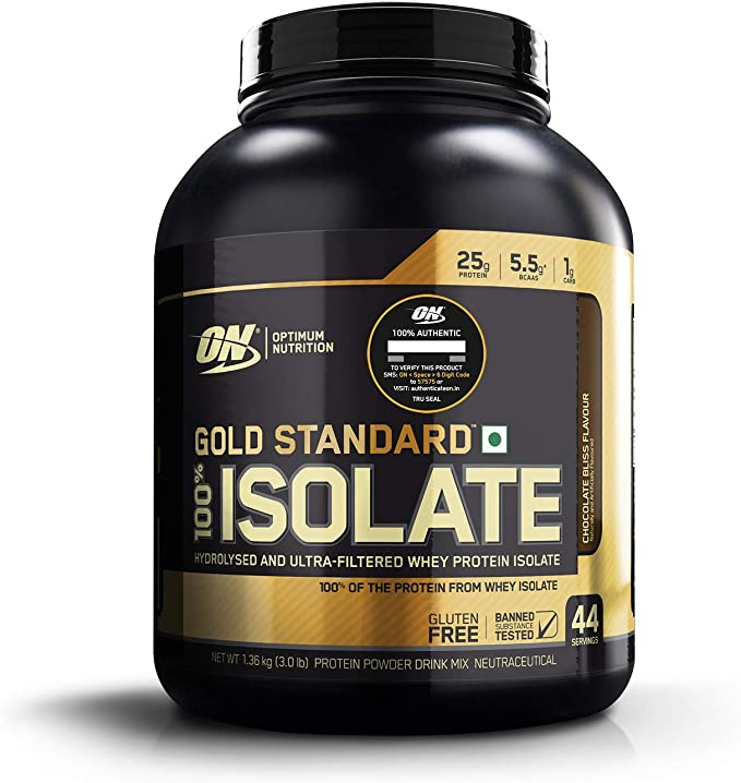 Gold Standard 100% Isolate - 720g Rich Vanilla - Optimum Nutrition, Optimum Nutrition