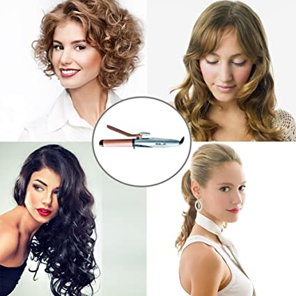 Amazon.com: Professional Ceramic Hair Curler, Spray Steam Ceramic Hair Curling Wand 25mm - Wet or Dry Hair Curler Wand Set with water tank and Heat ...