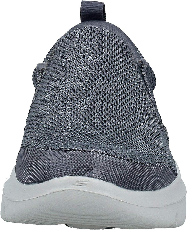 Skechers Men's Go Walk Evolution Ultra-impec Trainers Grey Charcoal Textile Charcoal
