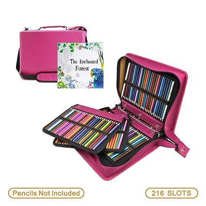 Amazon WeiBonD Binder Closure 210 Slots Colored Pencil Case