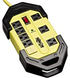 Tripp Lite 8 Outlet Industrial Safety Surge Protector Power Strip, 12ft Cord, Cord Wrap, Metal, Lifetime Limited Warranty & $50K INSURANCE (TLM812SA)