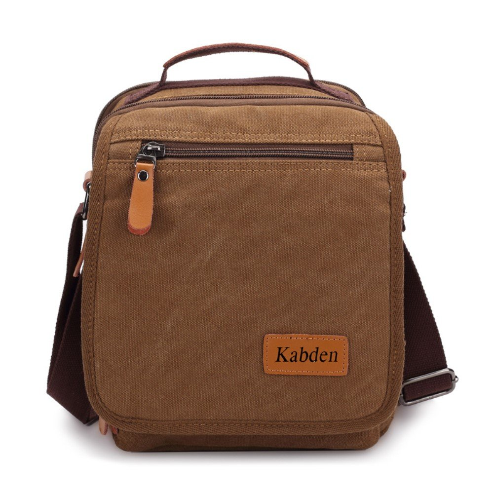 Sechunk Small Canvas Messenger Bag For Men Women Ipad Outdoor Leisure