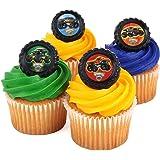 Monster Jam Officially Licenced 24 Cupcake Topper Rings