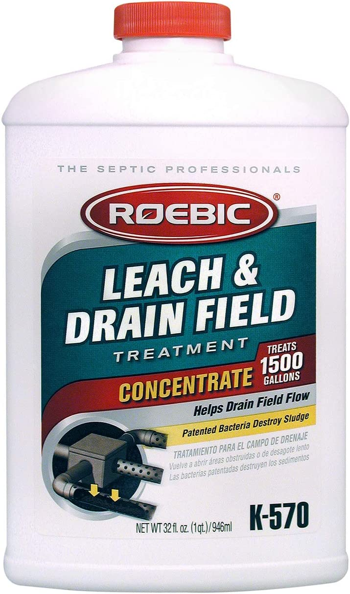 Roebic K-570-Q K-570 Biodegradable Leach and Drain Field Opener Concentrate Environmentally Friendly Bacteria Enzymes Treat Septic Clogs & Buildup, 32 Ounces, (Packaging May Vary): Home Improvement