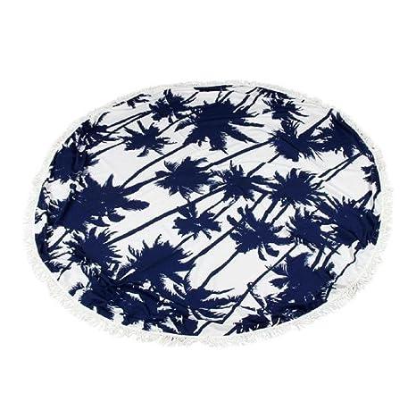 Sannysis toallas de playa 150 x 150 cm, toallas de playa finas, Estera de