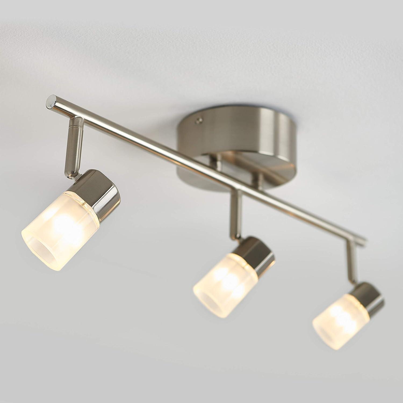 3-Lights Silver Artika Vars 3-Integrated LED Track Light