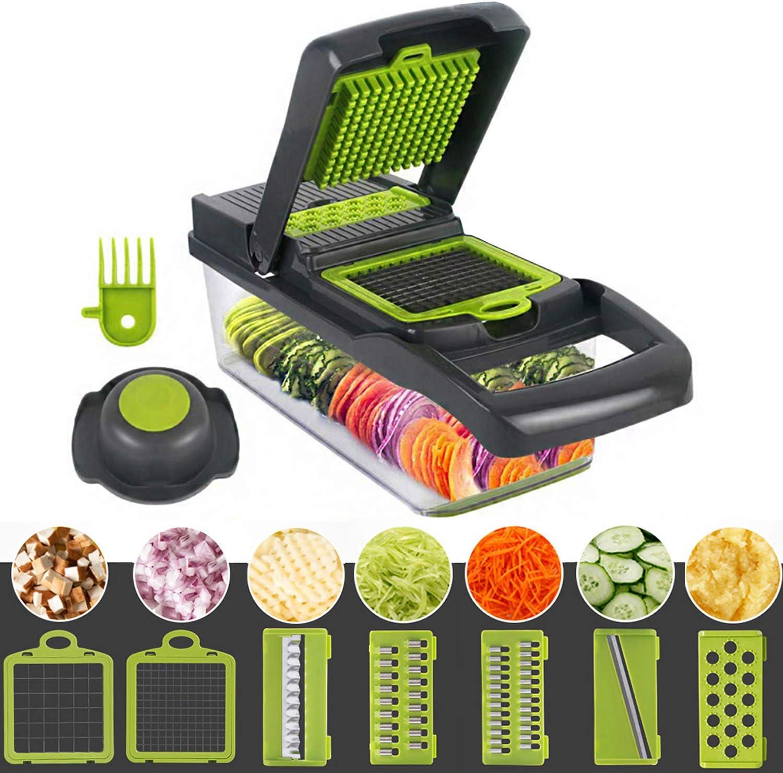 Celciaga Vegetable Chopper Veggie Slicer, Pro Food Slicer Dicer Cutter with Container & Egg Separator, Potato Onion Fruit Peeler Grater