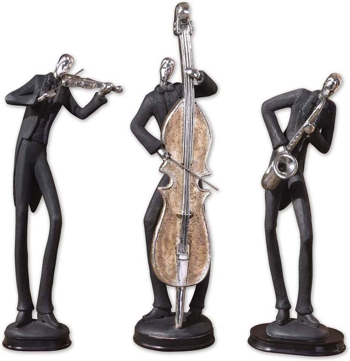 Uttermost, Slate Gray Musicians Accessories 4.375 x 5 x 18 Set of 3