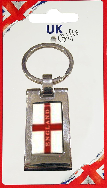 50%OFF Keyring England George B00831UEYK Cross Design Flag Cross With England Words Pinch Metal Design B00831UEYK, 海外グルメ食品のIGM:15da1c16 --- yelica.com