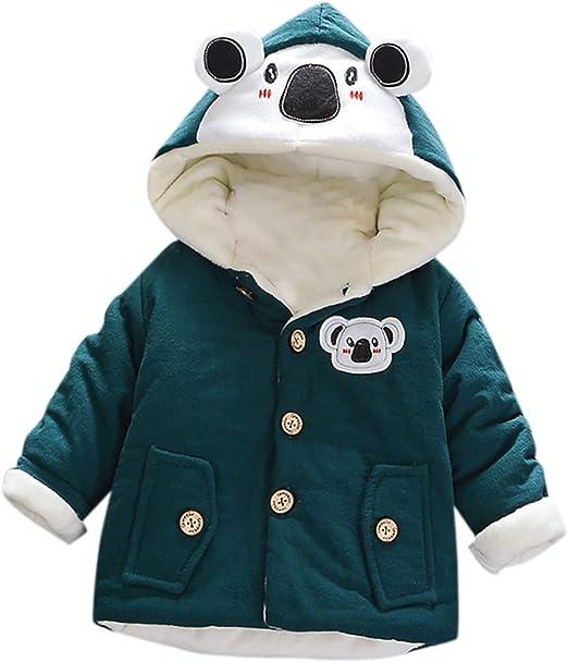 Infant Baby Girl Hooded Fleece Winter Coat Toddler Kid Boy Cute Warm Thick Jacket Outerwear 0-4t