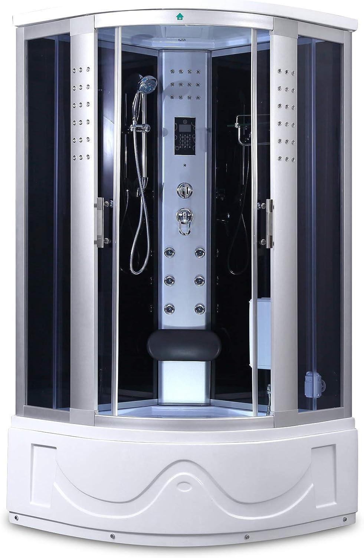 """1001NOW Corner Steam Shower Enclosure 42"""" x 42"""" with Hydro Massage Jets & Foot Massage Shower"""