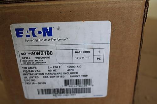 Eaton BW2100 Plug-On Mount Type BW Main Meter Breaker 2-Pole 100 Amp 120 240 Volt