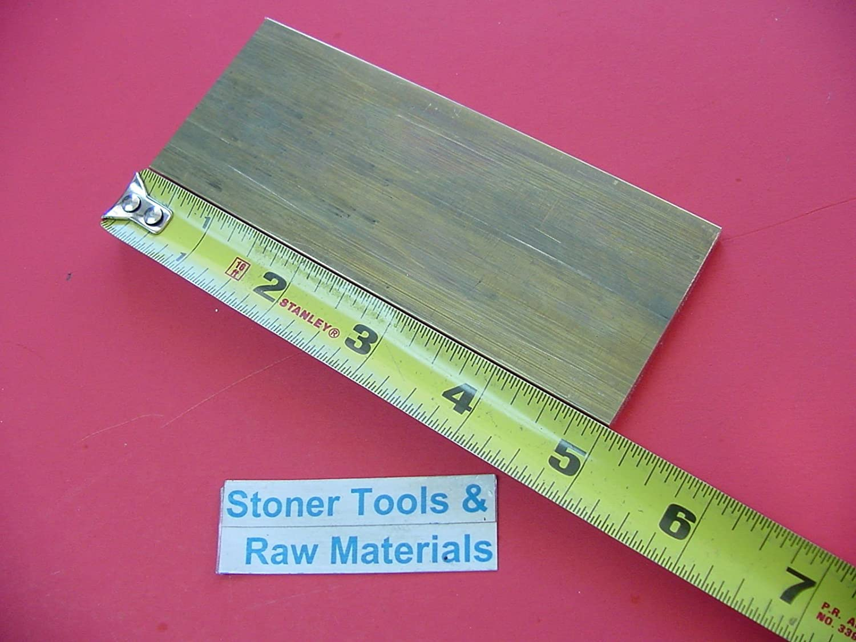 "1/4"" x 2"" C360 BRASS FLAT BAR 5"" long Solid .250"" Plate Mill Stock H02 717koSBlouL"