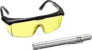 InterDynamics Certified A/C Pro UV Leak Detection Kit, UV Light with Glasses, 438