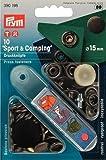 Prym Boutons pression Sport, laiton, 15mm, bleuissage,10 pices