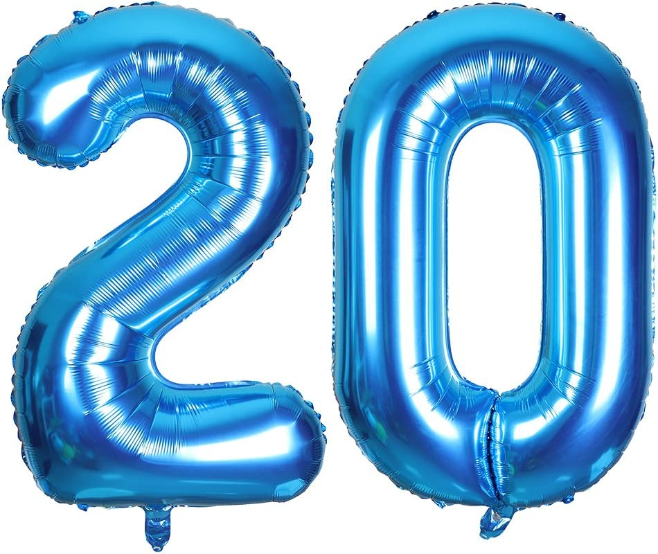 """Silver Foil Helium number balloon 40th Brithday Party 40/"""" inch 100cm AUS STOCK"""