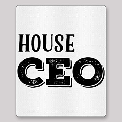 house ceo mousepad for lady of the house mother funny perfect birthday christmas gift for mom