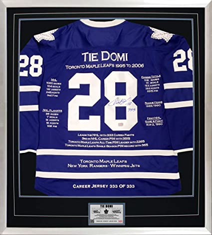 Tie Domi Career Jersey  333 of 333 - Autographed - Toronto Maple Leafs b45eb076b