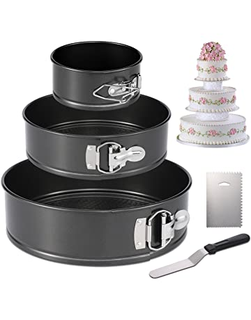 Hiware Springform Pan Set Of 3 Non Stick Cheesecake Pan Leakproof Round Cake Pan