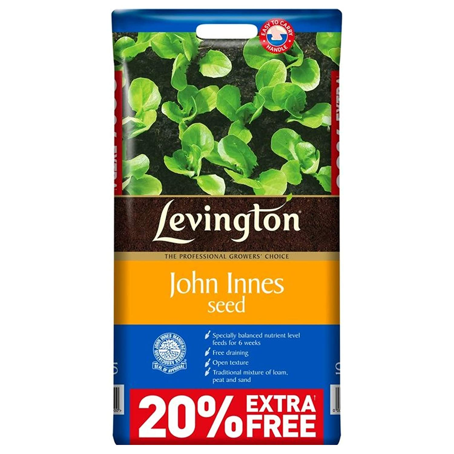 10L Levington John Innes Seed Compost. Ideal for Sowing Seeds and Rooting Cuttings. Includes Tigerbox Antibacterial Pen. Levington & Tigerbox