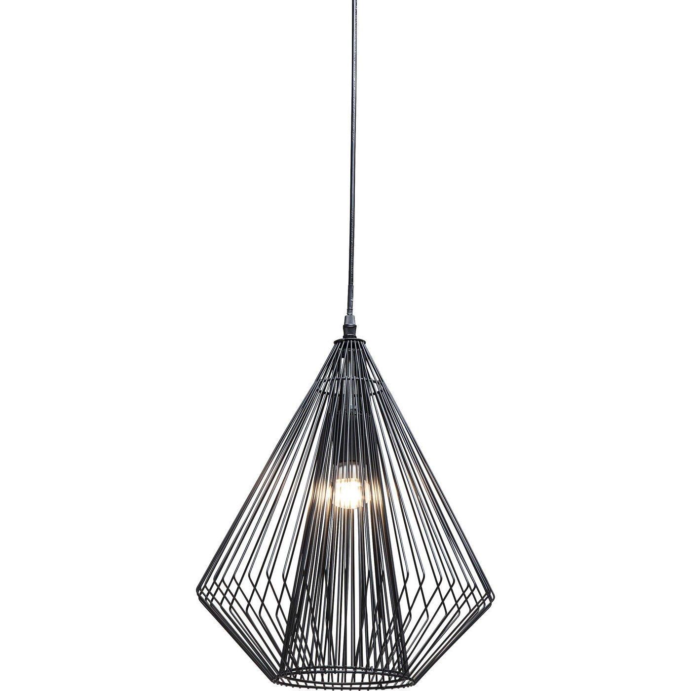 Kare Design Hängeleuchte Modo Wire, moderne, schmale Designer Pendelleuchte, geometrische Hängelampen, Stahl, Schwarz (H B T) 42,5x31,5x31,5cm