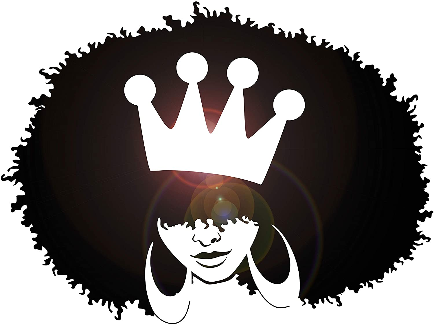 Amazon Com Vinyl Wall Decal African Hairstyle Girl Queen Crown Stickers Large Decor 3362ig Black Arts Crafts Sewing