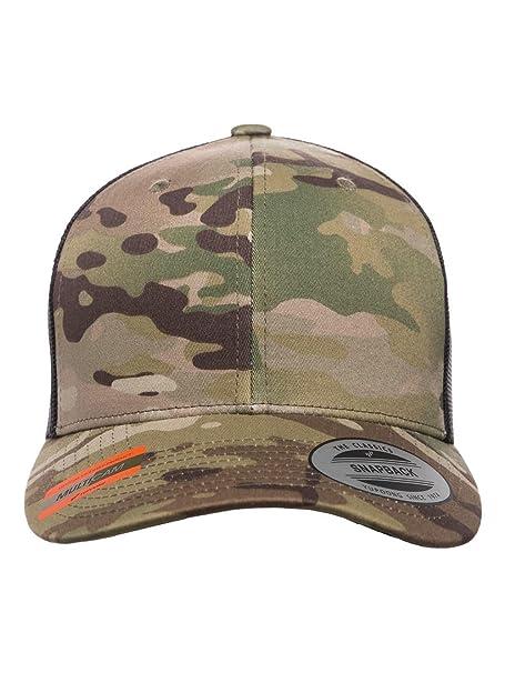 85fab29f7343a1 Amazon.com: Yupoong - Retro Trucker Cap - 6606 - Adjustable - Multicam  Green/Black: Clothing