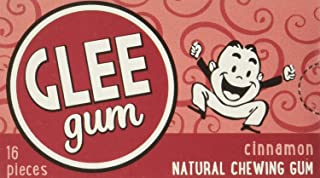 product image for Glee Gum All Natural Cinnamon Gum, Non GMO Project Verified, Eco Friendly, 16 Piece Box, Pack of 12