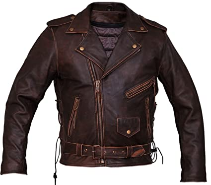 0da70d420 Marlon Brando Brown Leather Motorcycle Jacket
